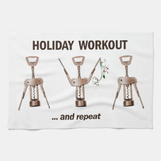 Holiday Workout Kitchen Towel