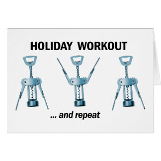 Holiday Workout Note Card