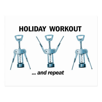 Holiday Workout Postcard