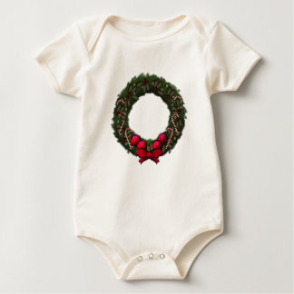 Holiday Wreath Baby Bodysuit