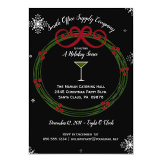 Holiday Wreath Corporate Party Invitation