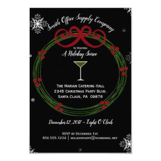 Holiday Wreath Corporate Soiree Invitation