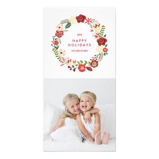 Holiday Wreath | Holiday Photocard Custom Photo Card
