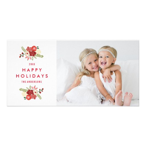 Holiday Wreath | Holiday Photocard Personalized Photo Card