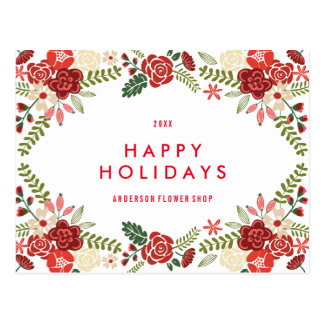 Holiday Wreath | Holiday Postcard