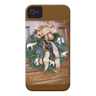 Holiday wreath in Natural colors iPhone 4 Cover