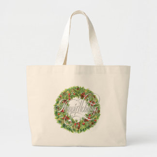 Holiday Wreath Large Tote Bag