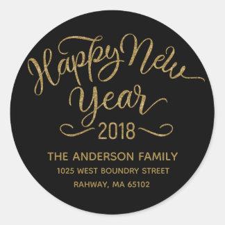 Holidays - Happy New Year 2018 (5) Classic Round Sticker
