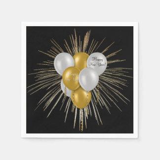 Holidays - Happy New Year Balloons Napkin