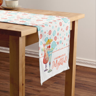 Holidays in the Tropics | Teal Bubbles & Baubles Short Table Runner