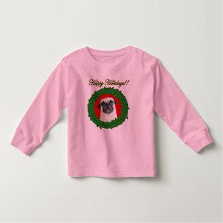 Holidays pug toddler shirt