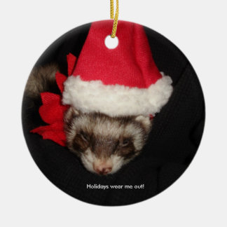 Holidays Wear Me Out! Christmas Ornament