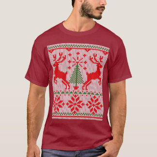 Holidays White Knit Style Sweater Deer