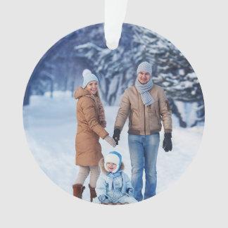 Holidays Winter Family Photo Ornament
