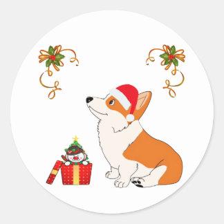 HolidayWelsh Corgi Cartoon Classic Round Sticker