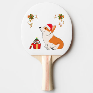 HolidayWelsh Corgi Cartoon Ping-Pong Paddle