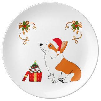 HolidayWelsh Corgi Cartoon Plate