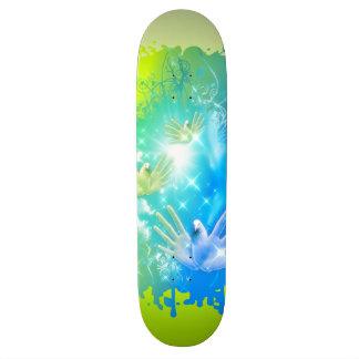 holiES - Flying Hands Pigeons ART Skateboard Deck