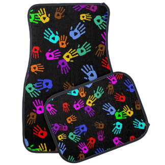 holiES - hands colored pattern 1 + your backgr. Floor Mat