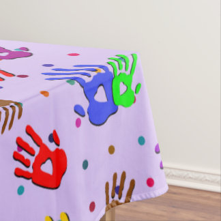 holiES - hands dots colored pattern 1 Tablecloth