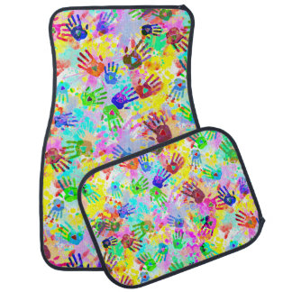 holiES - hands splashes colored grunge pattern 2 Auto Mat