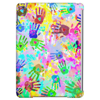 holiES - hands splashes colored grunge pattern 2 Case For iPad Air