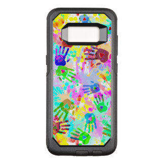 holiES - hands splashes colored grunge pattern 2 OtterBox Commuter Samsung Galaxy S8 Case