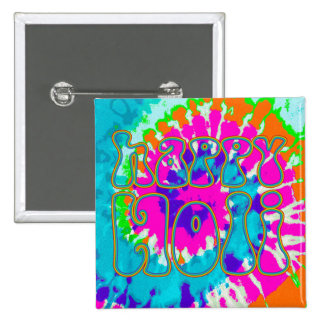 holiES - HAPPY HOLI simply colored outline 1 2 Inch Square Button