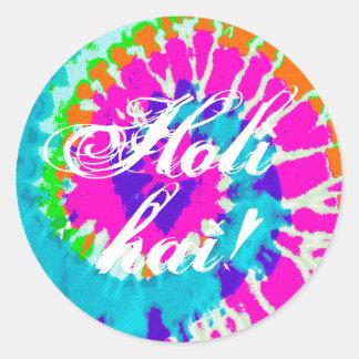 holiES - Power Spiral Batik Style Round Sticker