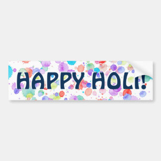 holiES - Splatter multicolored 1 + your backgr. Bumper Sticker