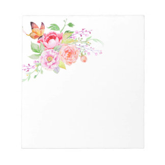 holiES - Watercolor Spring Flowers Bouquet 2 Notepads