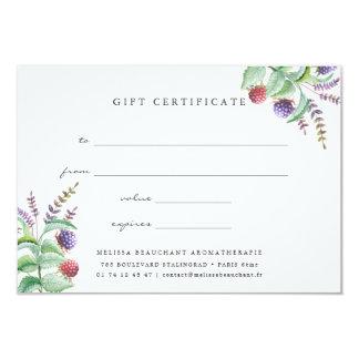 Holistic Aromatherapist Organic Spa Gift Card