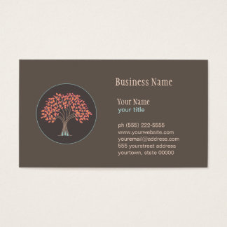 Holistic Healing Tree Business Card