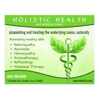 "Holistic Health Green Caduceus Symbol 8.5"" x 11"" Flyer"