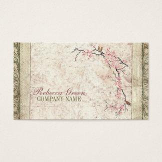 holistic health Yoga Zen SPA cherry Blossom Sakura Business Card