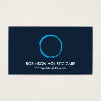Holistic, Naturopath, Healer, Zen Logo II Business Card