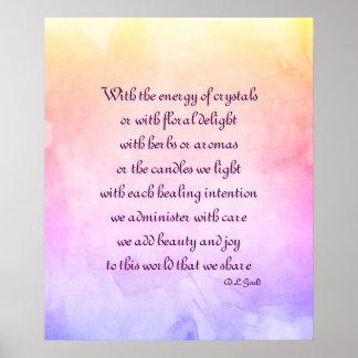Holistic poem art poster