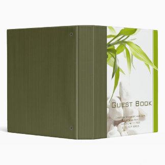 Holistic Spa Guest Book Binder