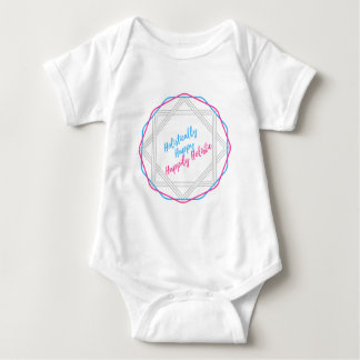 Holistically Happy. Happily Holistic. Slogan. Baby Bodysuit