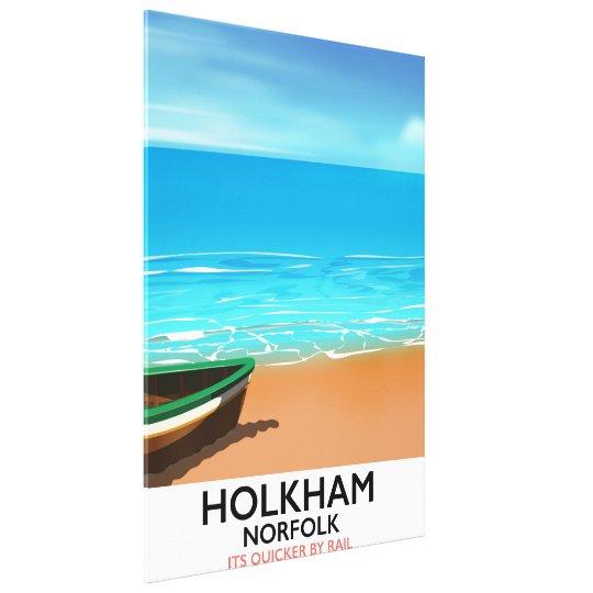 Holkham Norfolk Beach travel poster Canvas Print