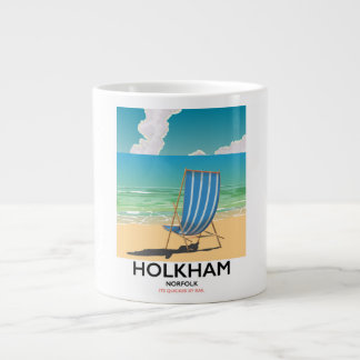 Holkham Norfolk beach travel poster Large Coffee Mug