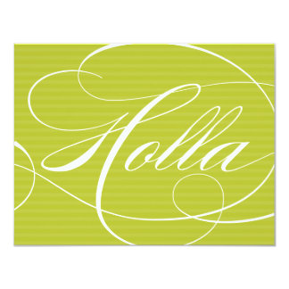 HOLLA GREEN SCRIPT | NOTE CARDS