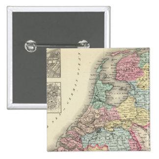 Holland and Belgium 2 Pinback Buttons