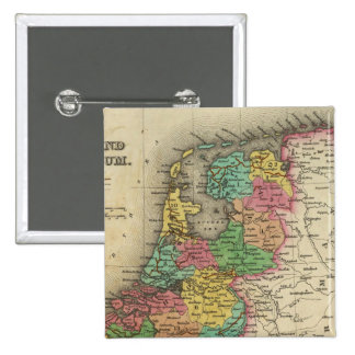 Holland And Belgium 2 Inch Square Button