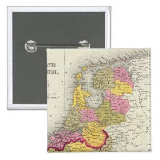 Holland And Belgium Pin
