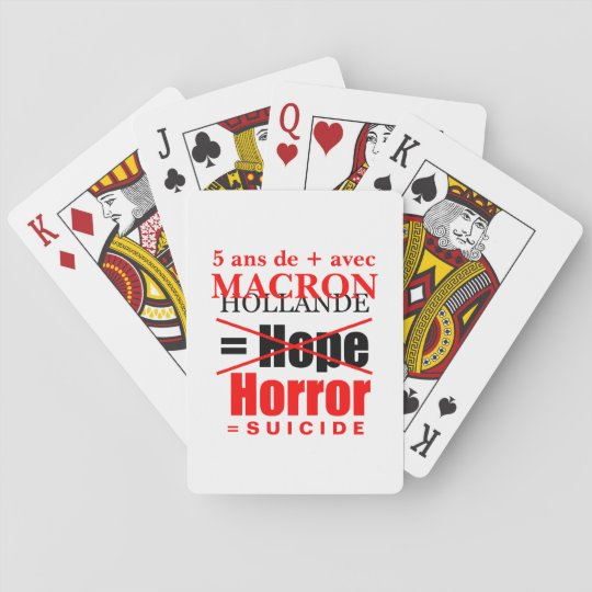 Holland and Macron it is the Horror charts poker Poker Deck