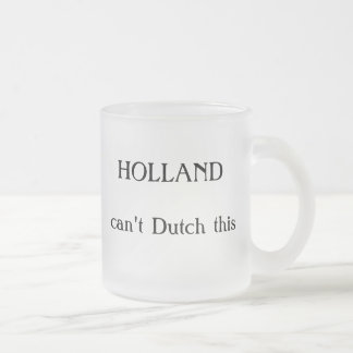HOLLAND, can't Dutch this Frosted Glass Coffee Mug