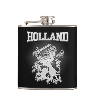 Holland Coat of Arms Hip Flask