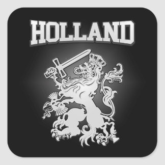 Holland Coat of Arms Square Sticker