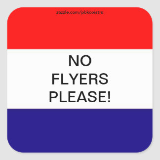 Holland Flag No Flayers please mail Box Sticker